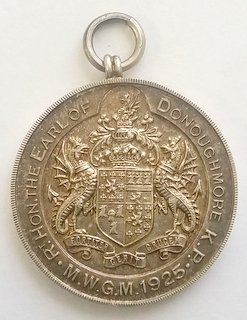 Rare 1925 The Bi-Centenary of the Grand Lodge of Ireland 1725-1925. Silver Jewel. Hallmarked Dublin. Maker L.A.W.