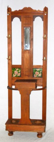 Edwardian Pine Hallstand Early 1900's.