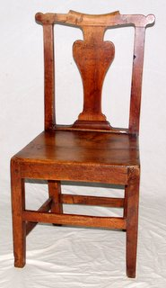 Georgian Country Elm Dining Chair. Late 18th Century.