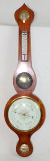 Late Georgian Mahogany Onion Top 5 Dial Wheel Barometer.Early 19th Century. Working order.
