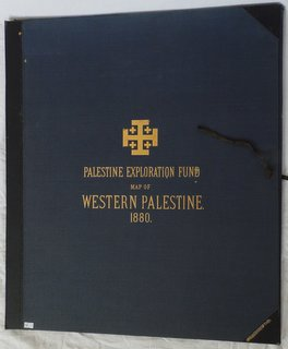 Jewish & Israeli History and Culture Map of Western Palestine in 26 sheets c.1880