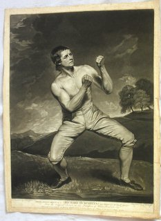 Rare Boxing Interest John Hoppner RA, Richard Humphreys, Mezzotint by Jonathan Young. Circa 1788.